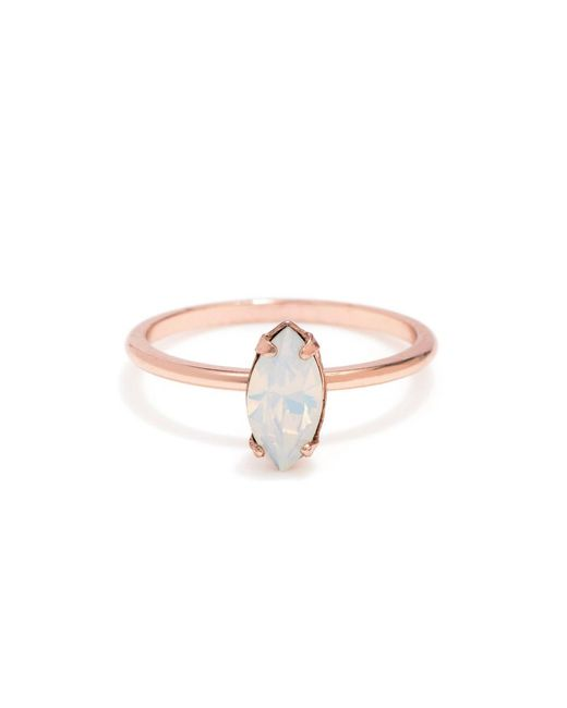 Bing Bang | Pink Tiny Marquis Ring | Lyst
