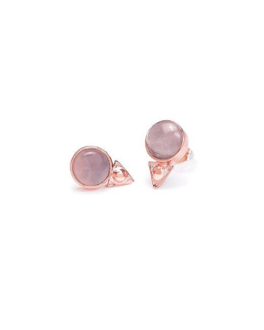 Bing Bang   Pink Earth Amulet Studs   Lyst