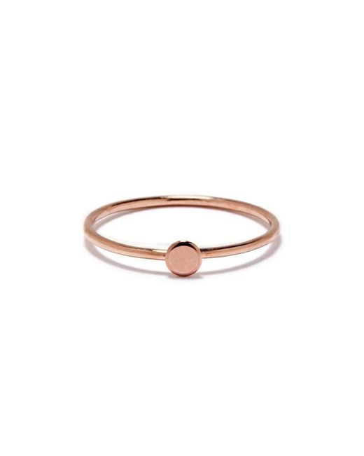 Bing Bang - Pink Tiny Circle Ring - Lyst
