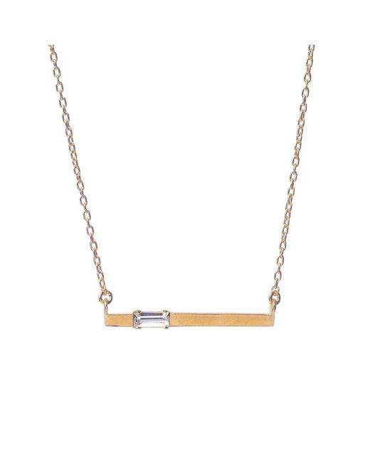 Bing Bang - Yellow Baguette Bar Necklace - Lyst