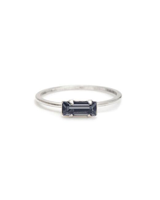 Bing Bang Metallic Tiny Baguette Ring