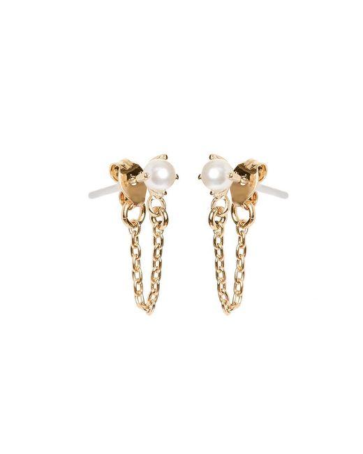 Bing Bang Metallic Pearl Continuous Earrings