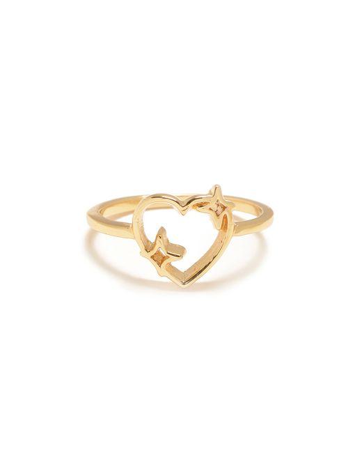Bing Bang   Metallic Sparkle Heart Ring   Lyst