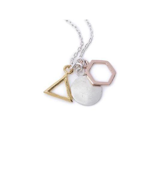 Bing Bang - Metallic Geo Charm Pendant Necklace - Lyst