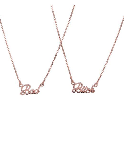 Bing Bang - Metallic Bad Bitch Necklace Set (bb X Me & You) - Lyst