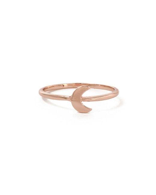 Bing Bang - Pink Little Moon Ring - Lyst