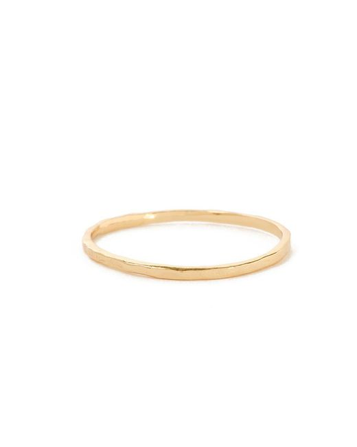 Bing Bang - Yellow Delicate Hammered Band - Lyst