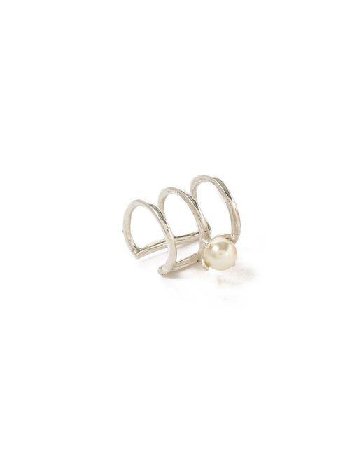 Bing Bang - Metallic Delicate Caged Pearl Ear Cuff - Lyst