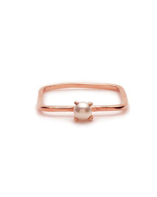 Bing Bang - Pink Square Tiny Pearl Ring - Lyst