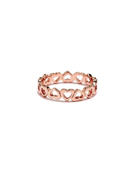 Bing Bang - Pink Eternity Heart Ring - Lyst