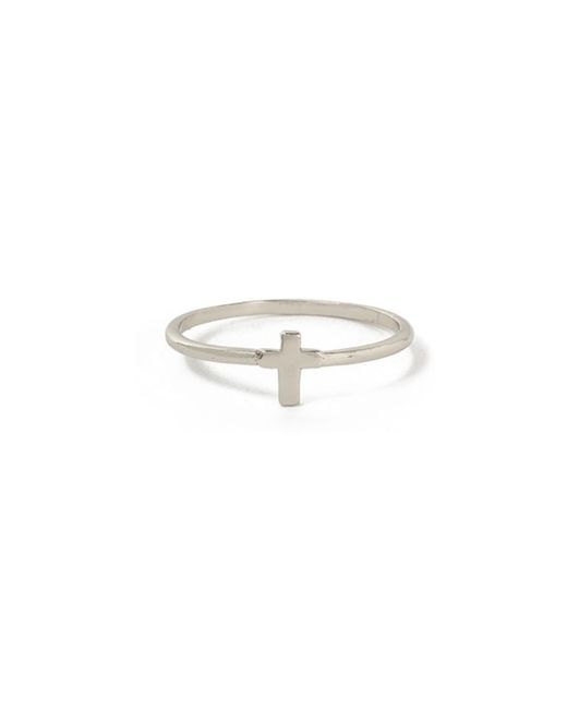 Bing Bang - Metallic Tiny Cross Ring - Lyst