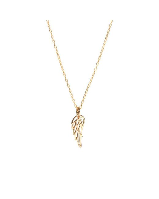Bing Bang Metallic Wing Necklace