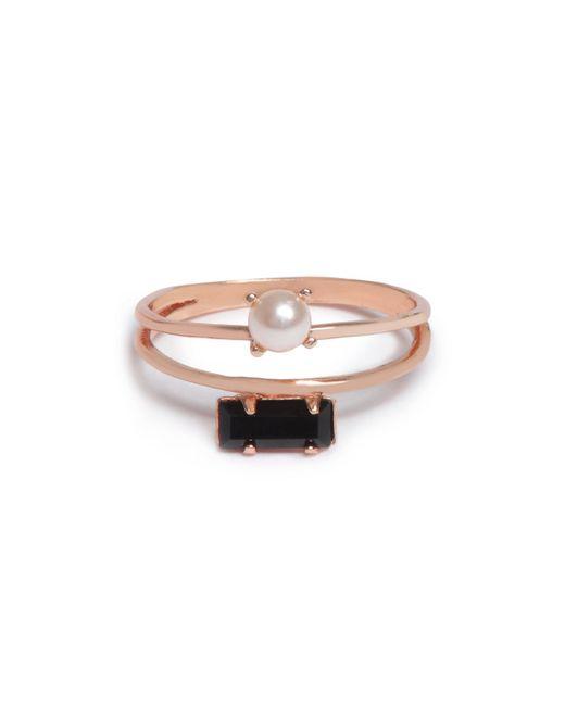 Bing Bang Metallic Monroe Duet Ring