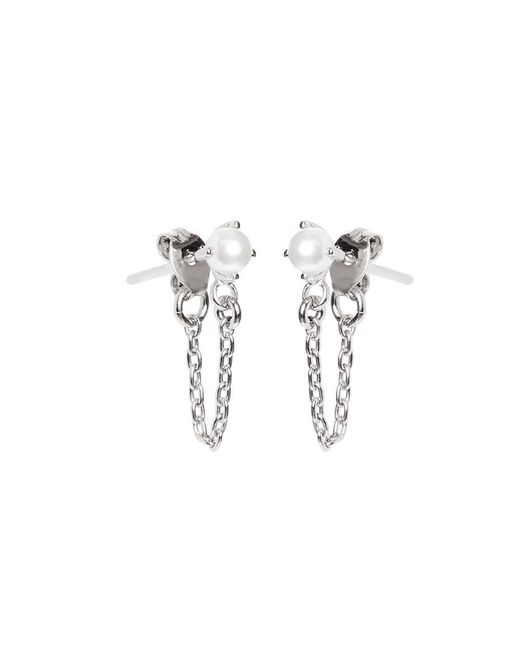 Bing Bang - Metallic Pearl Continuous Earrings - Lyst