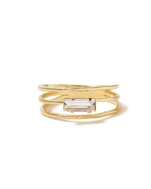 Bing Bang - Yellow Stacked Baguette Ring - Lyst