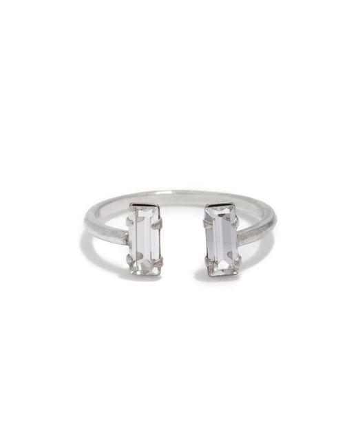 Bing Bang   Metallic Double Baguette Ring   Lyst