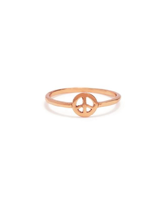 Bing Bang - Pink Little Peace Ring - Lyst