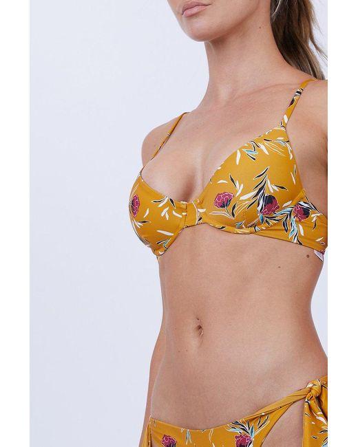 Beach Riot Yellow Camilla Underwire Bikini Top