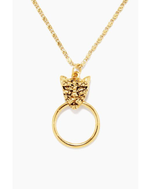 Vanessa Mooney Metallic The Panther Necklace - Gold