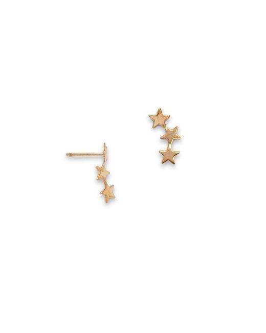 SIMONE JEANETTE Metallic Stera Ear Climbers