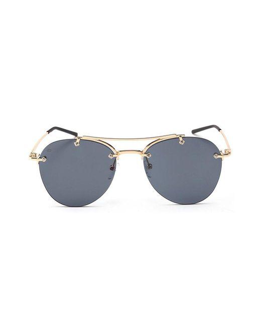Privé Revaux - Multicolor The Dutchess Unisex Oval Aviator Sunglasses - Black/gold - Lyst