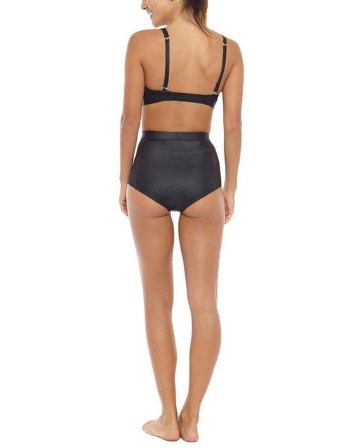 KORE - Black Column High Waisted Bikini Bottom - Onyx - Lyst