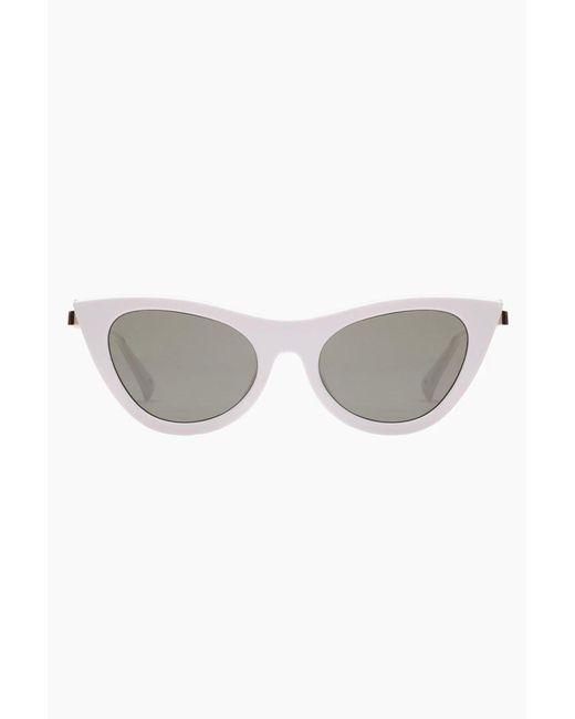 Le Specs Enchantress Sunglasses - White/khaki