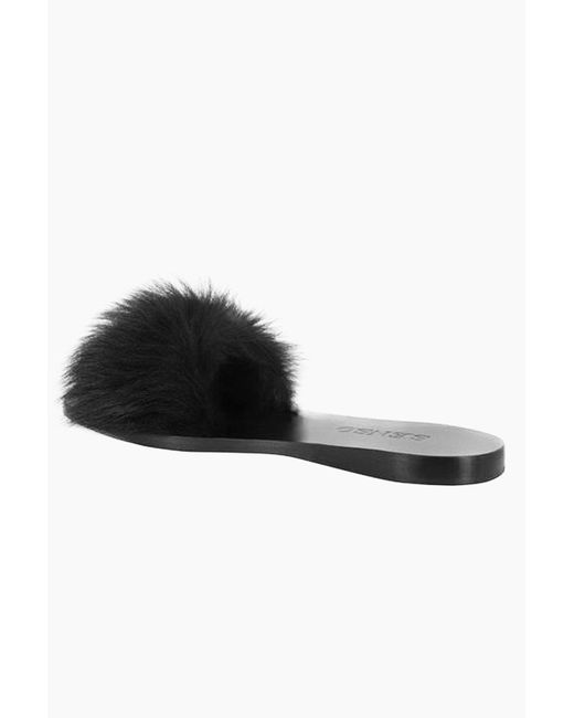 Senso Women's Black Bronte Fluffy Slide