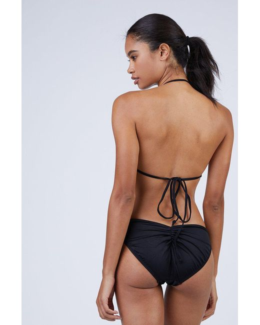 33c4dca0dcded Norma Kamali - Butterfly Shirred High Cut Bikini Bottom - Black - Lyst ...