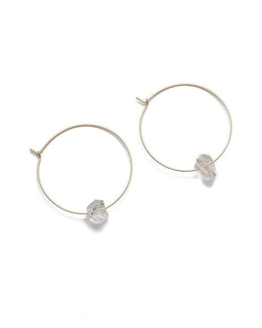 BLAINE BOWEN | Metallic Hayley Hoop Earrings | Lyst