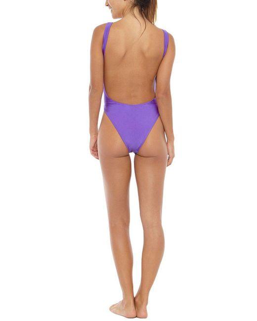 Kovey - Surfari Day High Cut One Piece Swimsuit - Purple - Lyst