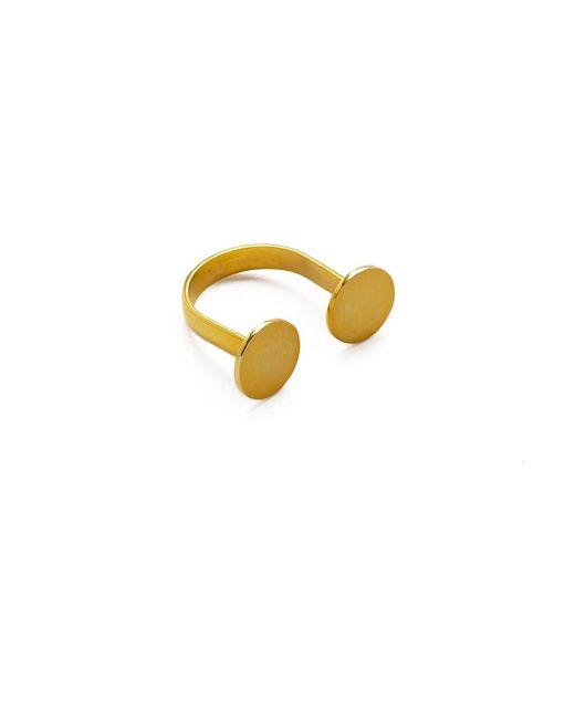 MIRA | Metallic Twin Disc Adjustable Ring | Lyst