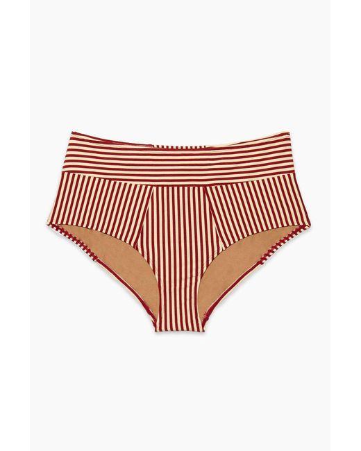 Marlies Dekkers Holi Vintage High Waist Bikini Bottom - Red Ecru