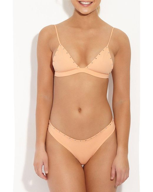 Indah - Pink Karlie Studded Top - Lyst