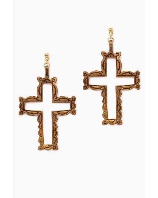 Vanessa Mooney - Metallic The Saint Asella Earrings - Gold - Lyst