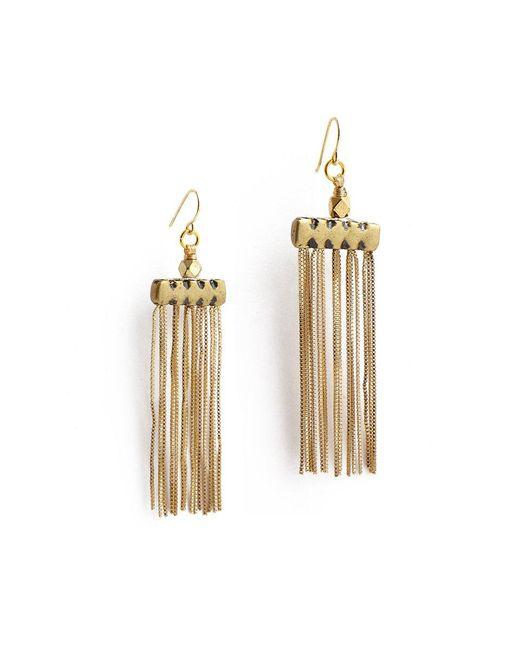 Vanessa Mooney Metallic The Iris Earrings