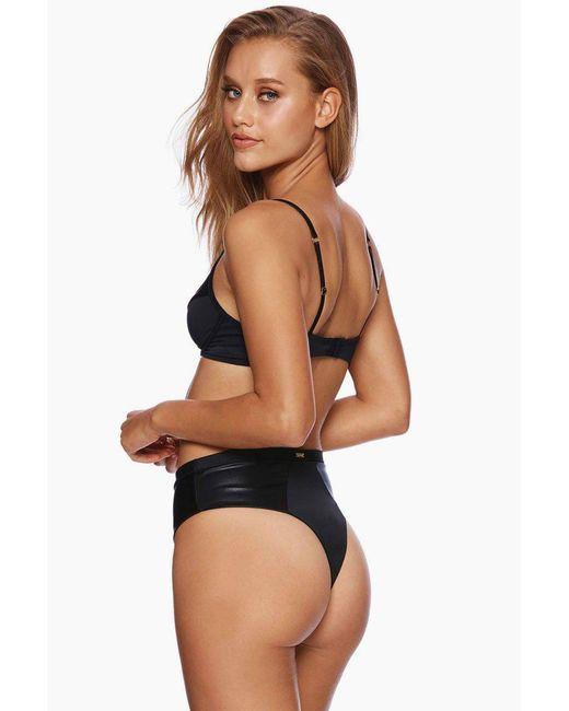 Beach Bunny Layla High Waist Bikini Bottom - Black