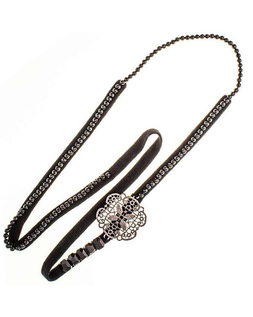 Black.co.uk - Multicolor Rana Bronze, Agate And Cashmere Necklace - Lyst