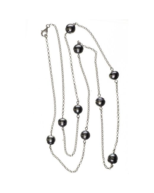 Black.co.uk | Multicolor Ophelia Tahitian Black Pearl Infinity Necklace | Lyst