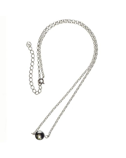 Black.co.uk - Multicolor Cressida Single Tahitian Black Pearl Pendant - Lyst