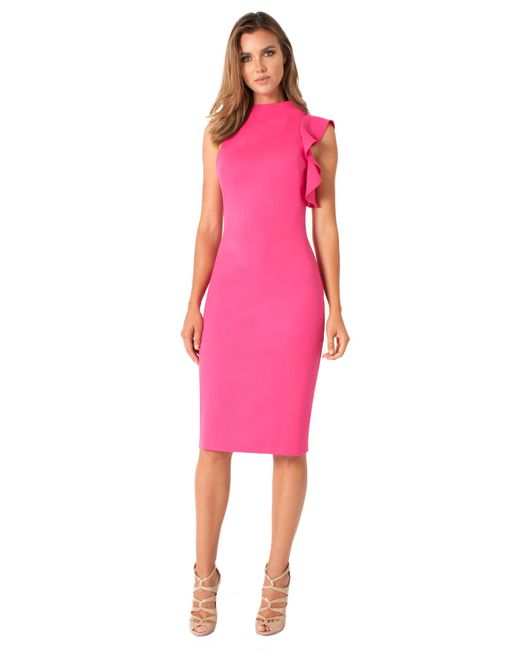 Black Halo Synthetic Pabla Sheath In Pink Save 25 Lyst