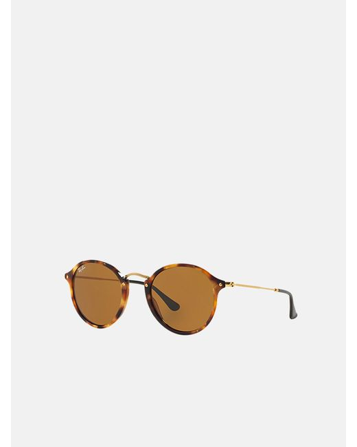 Ray-Ban Brown Round Fleck_rb2447 1160 49 for men