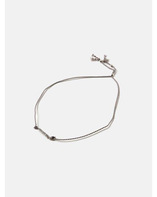 we11made - Metallic Stone Bar Thread Bracelet - Lyst
