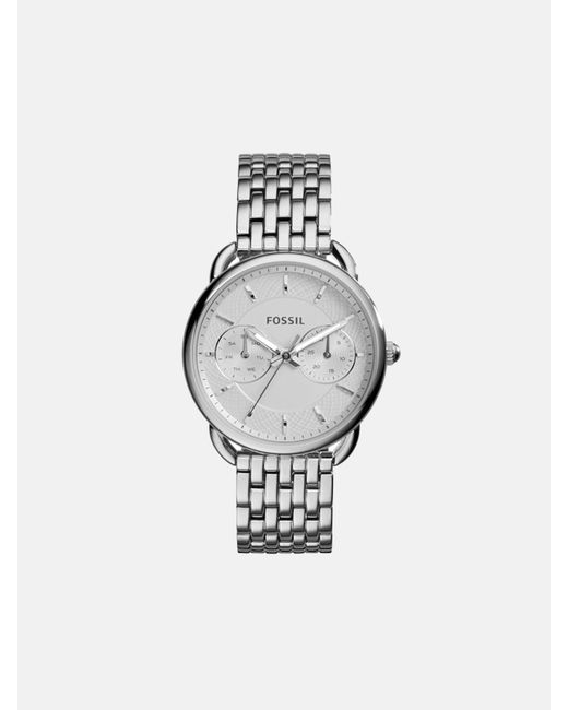 Fossil Metallic Tailor Multifunction Stainless Steel Watch Jewelry