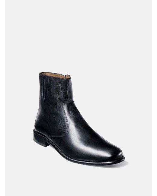 Florsheim | Black Hugo Plain Toe Zip Boot for Men | Lyst