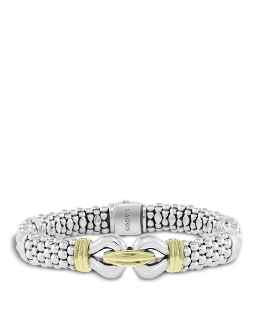 Lagos - Metallic 18k Gold And Sterling Silver Derby Bracelet - Lyst