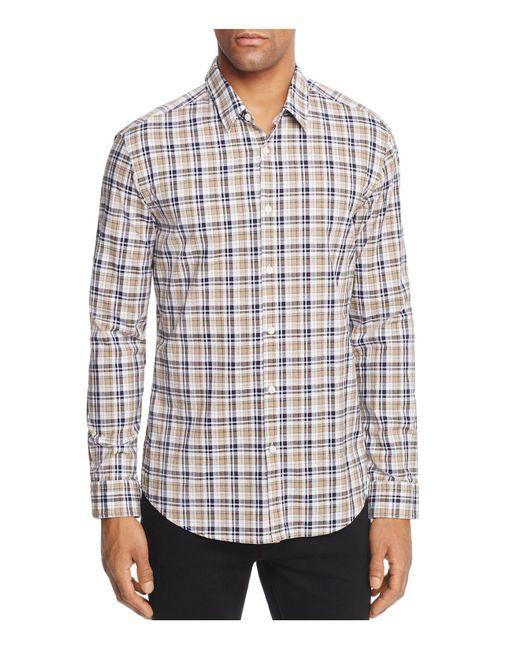 BOSS Green | Multicolor Plaid Regular Fit Button-down Shirt for Men | Lyst