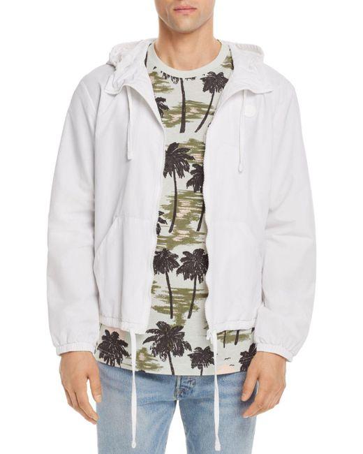Wesc - White Hooded Windbreaker Jacket for Men - Lyst