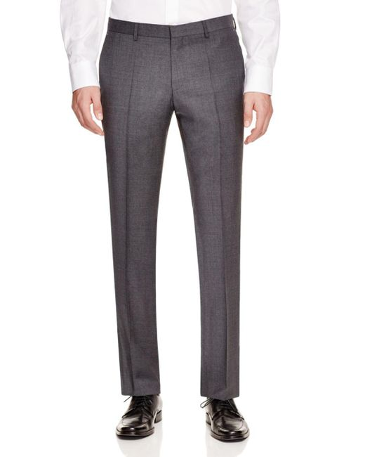 BOSS by Hugo Boss Gray Genesis Contemporary Slim Fit Trousers for men