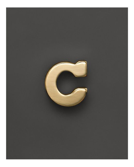Zoe Chicco | Multicolor 14k Yellow Gold Single Initial Stud Earring | Lyst
